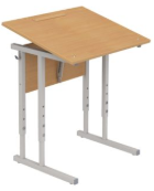 Столы ученические регулируемые с наклоном крышки (0-35°) одноместные