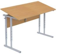 Столы ученические регулируемые с наклоном крышки