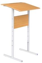 Стол ученический регулируемый для работы стоя с полкой