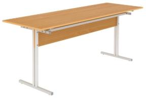 Стол обеденный шестиместный с кронштейном для табуретов