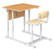 Парта ученическая с наклоном крышки со стулом (одноместная)
