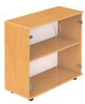 Шкаф 2-уровневый со стеклом