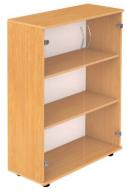 Шкаф 3-уровневый полуоткрытый со стеклом