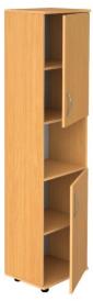 Шкаф для документов узкий закрытый с нишей