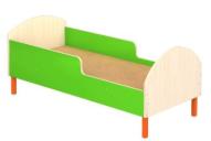 Кровать детская на металлических ножках с бортиками