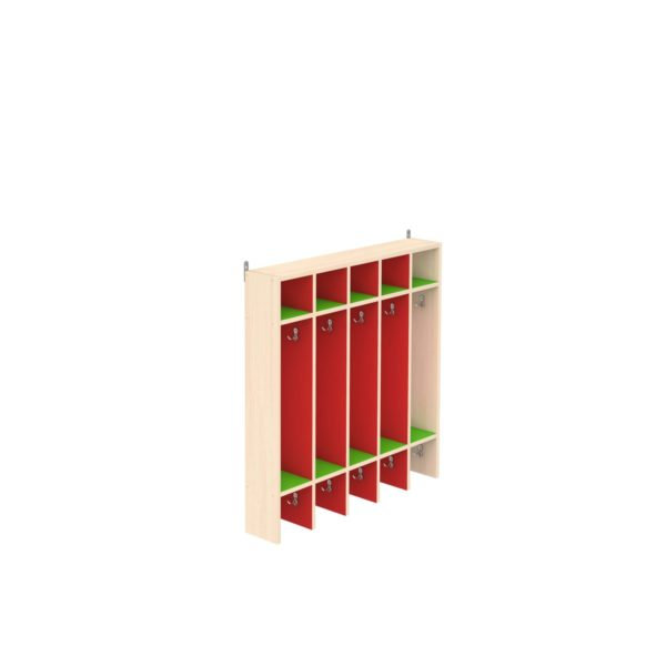 Вешалка для полотенец настенная с полками 10-секционная