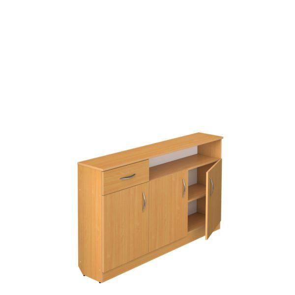 Тумба под классную доску 3-дверная с ящиком