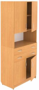 Шкаф закрытый с 2-мя ящиками и нишей