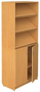 Шкаф полуоткрытый с наклонными полками