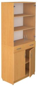 Шкаф со стеклом с ящиком