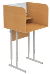 Стол ученический 1-местный регулируемый лингофонный